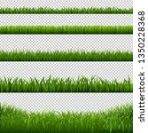 grass frame borders transparent ... | Shutterstock .eps vector #1350228368