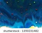 liquid colorful paint... | Shutterstock . vector #1350231482