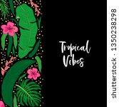 beautiful tropical green palm... | Shutterstock . vector #1350238298