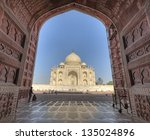 taj mahal as see from adjecent... | Shutterstock . vector #135024896