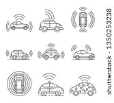 driverless car icons set.... | Shutterstock . vector #1350253238