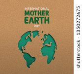 international mother earth day... | Shutterstock .eps vector #1350272675