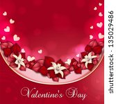 valentine's day card with... | Shutterstock . vector #135029486