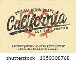 california. vintage brush... | Shutterstock .eps vector #1350308768