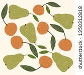 green fruit background | Shutterstock . vector #1350312818