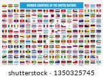 flag of member countries of the ... | Shutterstock .eps vector #1350325745
