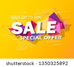 super sale and special offer.... | Shutterstock .eps vector #1350325892
