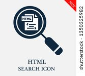 search html icon. editable... | Shutterstock .eps vector #1350325982