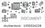 document icon set. 11 filled... | Shutterstock .eps vector #1350326228