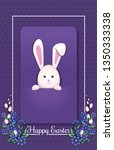 happy easter. greeting card... | Shutterstock .eps vector #1350333338