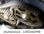 serpentine belt engine mechanism | Shutterstock . vector #1350336998