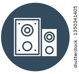 audio isolated vector icon... | Shutterstock .eps vector #1350341405