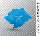 blue polygonal geometric banner ... | Shutterstock .eps vector #1350347192