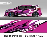 racing car wrap design vector.... | Shutterstock .eps vector #1350354422