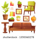 living or bedroom object set... | Shutterstock .eps vector #1350360278