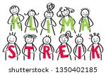 klimastreik german for climate... | Shutterstock .eps vector #1350402185