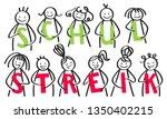schulstreik german for school... | Shutterstock .eps vector #1350402215
