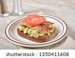 avocado toast with gluten free... | Shutterstock . vector #1350411608