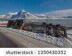 crash big truck with semi... | Shutterstock . vector #1350430352