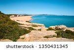 Small photo of Rough rocky coast of Costa Brava. Platja de Pals (Beach of Pals). Spanish, Girona. Vacation tourism beautiful destination.