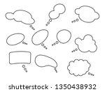 speech bubbles vector... | Shutterstock .eps vector #1350438932