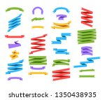 set of ribbon banners in flat... | Shutterstock .eps vector #1350438935