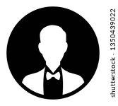 male user in flat style vector... | Shutterstock .eps vector #1350439022
