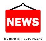 news inscription vector | Shutterstock .eps vector #1350442148