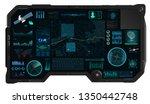 command center screen in hud...   Shutterstock .eps vector #1350442748