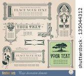 template for the design of... | Shutterstock .eps vector #135044312