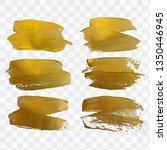 vector gold paint smear stroke... | Shutterstock .eps vector #1350446945