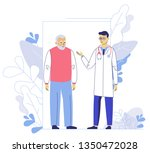 medicine concept with doctor... | Shutterstock .eps vector #1350472028