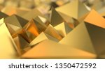 gold low poly triangle  trigon  ... | Shutterstock . vector #1350472592