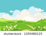 summer or spring landscape for... | Shutterstock .eps vector #1350480125