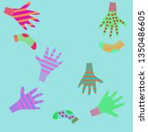 pattern of mittens  socks with  ... | Shutterstock . vector #1350486605