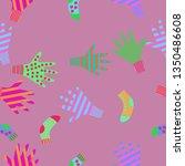 seamless pattern of mittens ... | Shutterstock . vector #1350486608