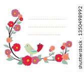 lovely notepad template with... | Shutterstock .eps vector #1350498992