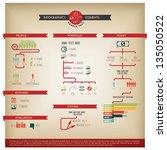 big vector set of infographic... | Shutterstock .eps vector #135050522
