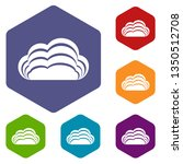 nature cloud icons vector...