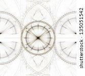 seamless horizontally tileable... | Shutterstock . vector #135051542