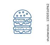 burger hamburger line icon... | Shutterstock .eps vector #1350516962