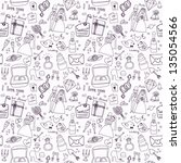 wedding seamless pattern | Shutterstock .eps vector #135054566