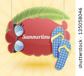 vector summer background with... | Shutterstock .eps vector #135058046