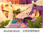 relax and chill out in city...   Shutterstock .eps vector #1350589865