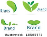 ecology icon set  leaf  logos... | Shutterstock .eps vector #135059576