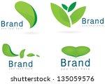 ecology icon set  leaf  logos... | Shutterstock .eps vector #135059576