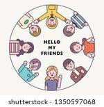 outline graphic design style...   Shutterstock .eps vector #1350597068