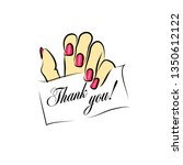 thank you . business card for a ... | Shutterstock .eps vector #1350612122