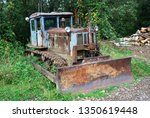 rusty abandoned tractor outcast ... | Shutterstock . vector #1350619448