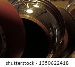 hanging pots and pans in the... | Shutterstock . vector #1350622418
